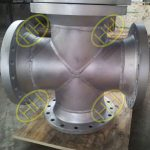 Flanged pipe cross