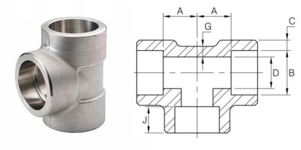 Tees of steel pipe fittings