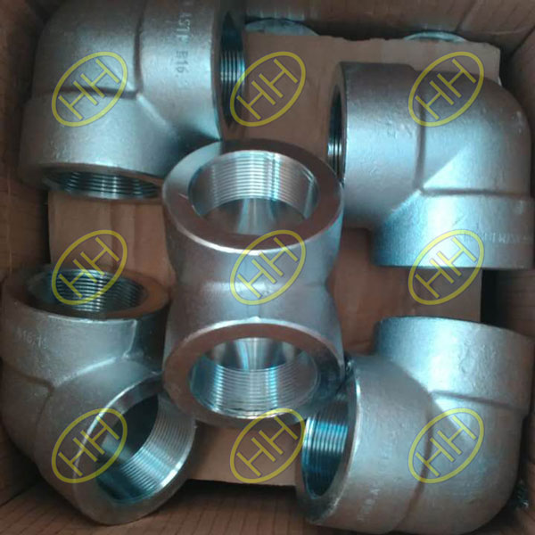 ASTM A182 F91 Threaded Elbows In Haihao Pipe Fitting Factory