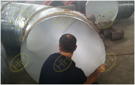 BV engineer check the pipe spools quality in Haihao Group