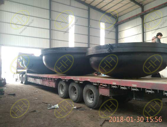 Shipment of big size pipe spool with cement lining