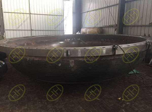Welding of big size pipe spool with cement lining
