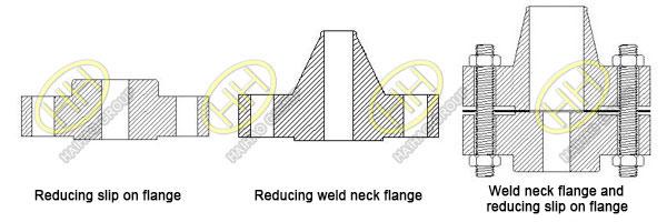 Reducing flange drawing