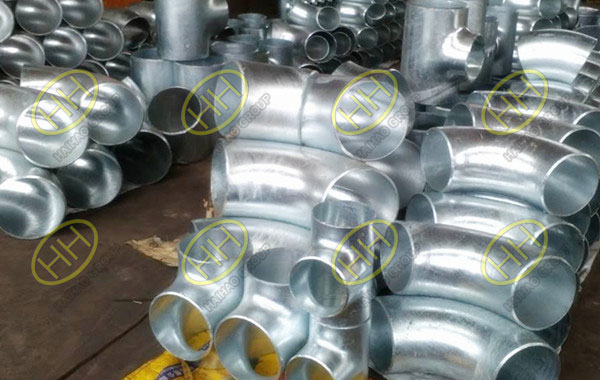 Cold galvanized pipe fittings products finished in Haihao Group