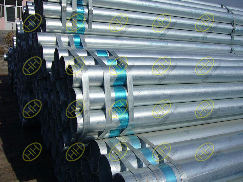 What are galvanized steel pipes?