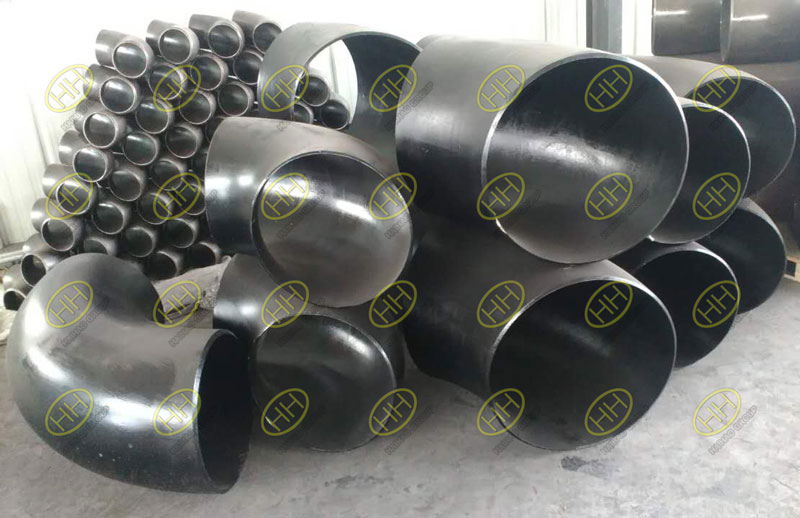 ASME B16.9 ASTM A234 WPB 45 degree 90 degree long radius elbows