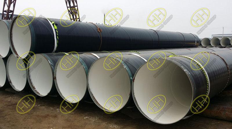3PE anti corrosion coating steel pipes