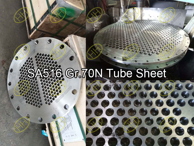 SA516 Gr 70N tube sheet for heat exchangers finished in Haihao Group