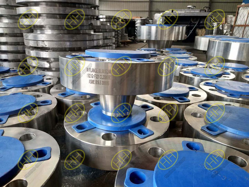ASTM A182 F321 Forged Weld Neck Flanges