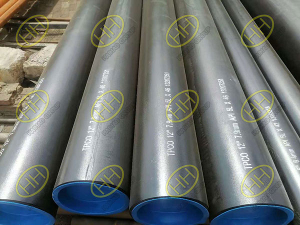 A batch of API 5L seamless steel pipes was shipped to Canada